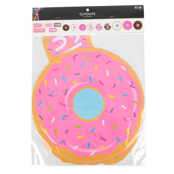 Donut Cut-Outs, Paper, Brown/Pink, 14 Count
