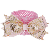 Brother Sister Design Studio, Leopard Print Headband, Pink and Gold, One Size Fits Most