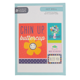 ThreeRoses, Chin Up Buttercup Boxed Get Well Cards, 12 Cards