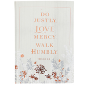 SoulScripts, Micah 6:8 Do Justly. Love Mercy. Walk Humbly., Hardcover Journal, Gray, 6 x 8 1/2 x 5/8   inches, 264 pages