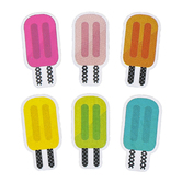Schoolgirl Style, Simply Stylish Tropical Pops Large Cut-Outs, 5 1/2 Inches, 36 Pieces