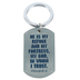 Dicksons, Psalm 91:2 He Is My Refuge Key Ring, Silver, 2 inches