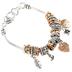 Oori Trading, Faith Hope Love Charm Bracelet, Silver and Gold