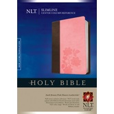 NLT Slimline Center-Column Reference Bible, Duo-Tone, Multiple Colors Available