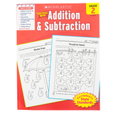Scholastic, Success With Addition and Subtraction Activity Book, 48-Pages, Paperback, Grade 2