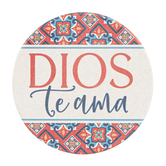 P. Graham Dunn, God Loves You Spanish Car Coaster, Ceramic, 2 3/4 inches