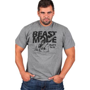 Gardenfire, Matthew 16:24, Beast Mode, Men's Short Sleeve T-Shirt, Charcoal, S--3XL