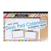 TooCute Collection, 2021-2022 Desk Pad Calendar, Academic Year, 17 x 11 Inches