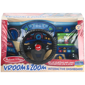 Melissa & Doug, Vroom & Zoom Interactive Dashboard, 14 1/2 x 9 1/4 x 7 1/4 inches, Ages 3 & Older