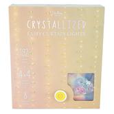 Brilliant Ideas, Crystallized Fairy LED Curtain Lights, USB Cable, 192 Bulbs and Crystals, 4 x 4 Feet