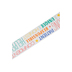 Renewing Minds, Wide Double-Sided Border Trim, 38 Feet, Character Words and Stripes, Multi-Colored