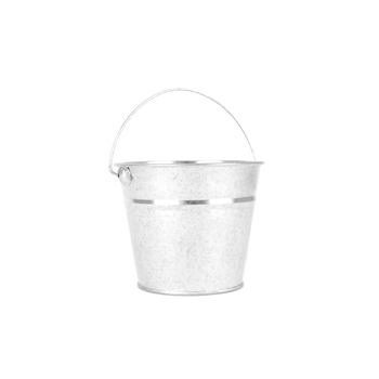 TooCute Collection, Small Bucket, 4.5 x 4 Inches, Silver, 1 Piece