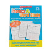 Scholastic, Week-by-Week Phonics & Word Study Activities for Intermediate Grades, 160 Pages, Grades 3-6