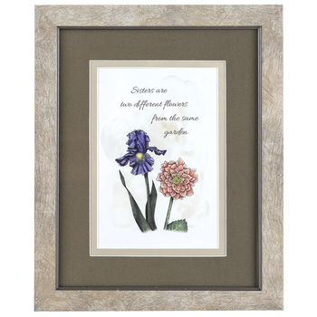 Carson Home Accents, Sisters Are Flowers From The Same Garden Framed Artwork, PVC, 8 x 10 inches