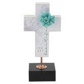 Dickson's Gifts, You Are Beautiful Table Cross, MDF Wood, Pink/White, 2 x 6 3/4 Inches