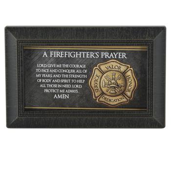 A Firefighter's Prayer Wall Plaque, Framed Art, 6 x 4 Inches