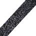 Black Glitter Art Project Mini Washi Tape, 3/4 inches x 5 yards, 1 Roll