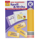 Evan-Moor, Skill Sharpeners Spell & Write Activity Book, Paperback, 144 Pages, Grade K