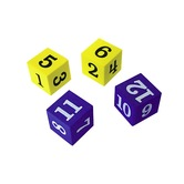 Teacher Created Resources, Foam Numbered Dice 1-12, Kindergarten and Older, 20 Pieces