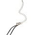 Glitter and Grace, Purrfect Kitty Cord Necklace, Purple/Black/Silver, 16 inch Cord