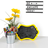 Glimmer of Gold Collection, Be Awesome Today Art Decor, Desk or Wall, 6 x 8 x 1.50 Inches