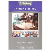 DaySpring, Coffee House Thinking of You Boxed Cards, 12 Cards with Envelopes