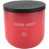 Winfield Home Decor, Crimson Amber Candle, Coral, 14 ounces