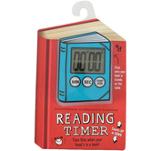 If, Children's Clip On Book Reading Timer, 6 1/4 x 4 1/2 x 1 inches, Blue