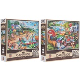 MasterPieces, Campside Puzzle, Assorted Two Designs, 300 Pieces, 18 x 24 inches