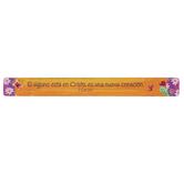 Christian Art Gifts, Si Alguno Esta En Cristo Magnetic Strip, 3/4 x 7 1/2 inches