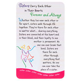 Blue Mountain Arts, Sisters Carry Each Other In Their Hearts Wallet Card, 2 x 3 1/4 inches