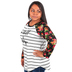 NOTW, Be Still and Know Floral Raglan Sleeved Shirt, Black and White