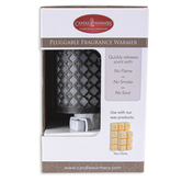 Candle Warmers, Moroccan Pluggable Fragrance Warmer, Metal, 5 1/4 x 2 3/4 inches