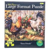 Farm Friends, Large Format Chicken Puzzle, 300 Pieces