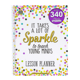 Teacher Created Resources, Confetti Lesson Planner, Spiral, Multi-Colored, 112 Pages