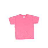 Gildan, Short Sleeve T-Shirt, Safety Pink, Youth Small, 1 Piece
