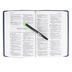 MSG The Message Deluxe Gift Bible, Large Print, Imitation Leather, Navy