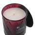 Darsee & David's, Vanilla & Berry Amber Diamond Patterned Jar Candle, Burgundy, 10 ounces