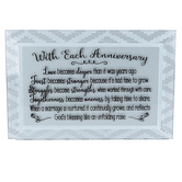 Dexsa, With Each Anniversary Tabletop Plaque, Glass, 6 x 4 inches