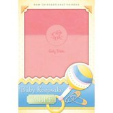 NIV Baby Keepsake Bible, Duo-Tone, Pink