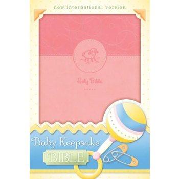 NIV Baby Keepsake Bible, Duo-Tone, Pink
