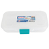 Sterilite, Pencil Box with Latch, Plastic, Clear and Blue, 5 1/2 x 8 1/2 x 1 1/2 inches
