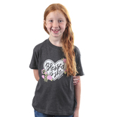 NOTW, Luke 1:45 Blessed is She, Kid's Short Sleeve T-shirt, Dark Gray, 3T-Youth Large
