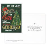 Renewing Faith, Matthew 6:21 Gathered Around the Tree Boxed Christmas Cards, Green/Red, 4 1/2 x 6 1/2 inches, 18 cards