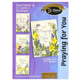Divinity Boutique, Floral Praying for You Boxed Cards, 12 Cards with Envelopes