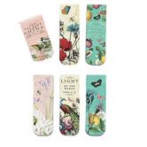 ThreeRoses, Flowers & Birds Magnetic Bookmarks, 1 Each of 6 Designs