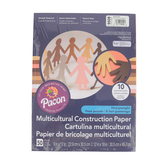 Pacon, Heavyweight Multicultural Construction Paper, 9 x 12 Inches, Assorted Skintones, 50 Sheets