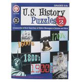 Carson-Dellosa, U.S. History Puzzles Book 2 Resource Book, Reproducible Paperback, 46 Pages, Grades 5-8