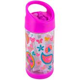 Stephen Joseph, Paisley Flip Top Bottle, Plastic, 10 ounces