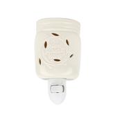 Candle Warmers, Home Sweet Home Jar Plug-In Wax Warmer, Ceramic, White